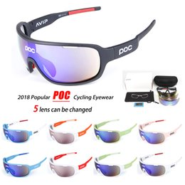 Wholesale red lens glasses - High Quality Sunglasses Hot Polarized Sports Eyewear UV400 Mens Sun Glasses Womens Wind Proof Goggles Cycling Sunglasses with 5 Lenses