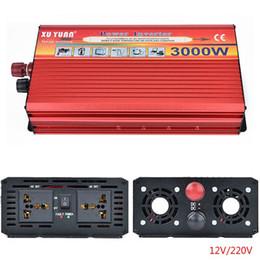Ventiladores de arrefecimento do inversor on-line-Inversor do carro 3000 W Inversor de Energia DC12V para AC220V Ventilador de Refrigeração Casa Conversor de Carro Profissional para Aparelhos de Carro de Alimentação de Emergência