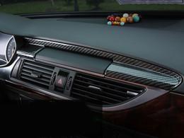 Wholesale console audi - Car styling Center Console Navigation Panel Decal Cover Trim Carbon Fiber Interior Molding 3D Sticker Refit for Audi A6 A7 12-16