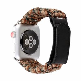 Argentina Woven Nylon Sports Watch Band 38 / 42mm Series 1 2 3 Outdoors Survival Rope Loop iwatch pulsera I325. cheap rope watch bands Suministro