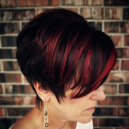 Короткие huaman парики волос красный выделить челка пикси вырезать Короткий боб прямые парики сторона взрыва парик supplier straight red bang wig от Поставщики прямой красный парик парик