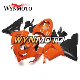 2019 zx14r carrinhos de abs New Black Orange Diminui ABS Injection Molding Carroçaria Para Ano 2004 2005 04 05 Kawasaki ZX10R Carroçaria novos painéis alta quadros do corpo Qualidade