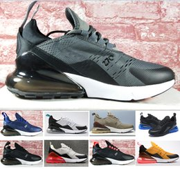 Wholesale Womens White Leather Sneakers - 2018 New 270 Running shoes Navy Mens Flair Triple Black Trainer Sports Shoe Medium Olive Bruce Lee Womens 270s Photo Blue Sneakers 36-45