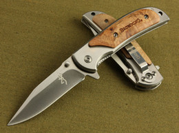 Wholesale Browning 338 Small - Special offer Browning 338 FA15 Pocket Folding knife Outdoor camping hiking Small folding knife knives with original paper box pack