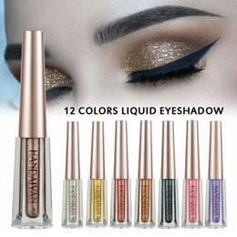 Argentina HANDAIYAN marca Diamond Glitter Eyeshadow Liquid Shimmer Maquillaje Impermeable Metallic 12Colors Highlighter Liquid Eyeshadow Maquiagem Suministro