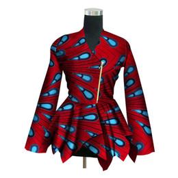 afrikanische wachsdruckstile Rabatt 2018 New African Print Wachs Mantel Dashiki Blazer Plus Größe 6xl Afrika Stil Kleidung für Frauen Crop Top Casual Mantel