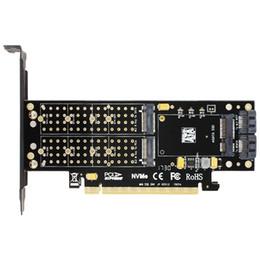 SK16 M.2 NVMe SSD Adaptador NGFF TO PCI-E3.0 X16 M Clave B Clave Tarjeta de interfaz mSATA Suppor PCI Express 3.0 3 en 1 dual 12v + 3.3v desde fabricantes