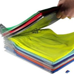 Переработка одежды онлайн-Ezstax одежда организатор системы переработанного пластика 10 слоев Майка держатель для хранения против морщин аккуратные стойки практические небольшой 10 5cc cc