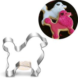 Biscoitos para cães on-line-10 pcs Poodle Metal Cortador De Biscoitos dos desenhos animados Dog dog Fondant Bolo Decoração Biscuit Pastelaria patisserie ferramentas