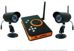 Kit DVR numérique sans fil 2,4 GHz, caméra de vision nocturne IR LED étanche 2pcs + carte SD récepteur DVR sans fil ? partir de fabricateur