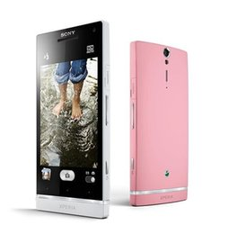 """Wholesale Pink Touch Mobiles - Original Sony Xperia S Sony LT26i LT26 Mobile phone 4.3"""" Capacitive Touch Screen 3G GPS WIFI 12MP 1G 32GB refurbished phone"""