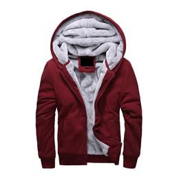 Sudadera con capucha de piel online-Cálido Hoodies Men 2018 Winter Plus Velvet Jacket Casual Thick hombres con capucha sudaderas masculinas Warm Fur Liner para hombre Sporting Coat envío gratis