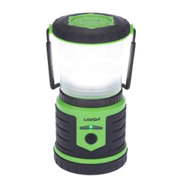 Wholesale Bright Banking - Wholesale-5W 400LM Rechargeable Ultra Bright Camping Lantern 6000mAh Mobile Power Bank 6 Modes Emergency Waterproof Portable for Hiking