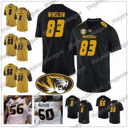 Mizzou Missouri Tigers  83 Kellen Winslow 8 Justin Smith 16 Damarea  Crockett 56 Shane Ray Black White Gold NCAA College Football Jersey 736bf1c8c