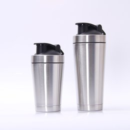 Wholesale Travel Folding Cup Stainless Steel - Stainless Steel Mug Kettle Creative Protein Powder Rocking Cup Men And Women Outdoor Portable Water Bottle Heat Resisting 28zx2 C R