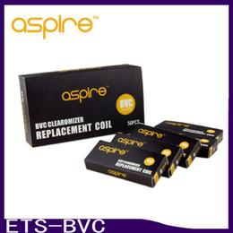 Substituição de ohm on-line-Cabeças de bobina BVC para aspire BDC atomizadores CE5 CE5S E ETS Vivi bobinas de substituição Nova Vivi Nova BVC 1.6 1,8 2,1 ohm 0266039