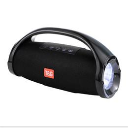 Canada Portable petit son Ares TG136 colonne haut-parleur sans fil Bluetooth radio AUX FM Lecteur MP3 subwoofer extérieur avec lumières LED Offre