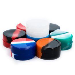 Deutschland Großhandelsqualität 22mL große runde Silikon-Behälter Antihaft-glatte Silikon-Gläser tupft Wachs-Behälter FDA-Silikon-Kästen für Wachs Versorgung