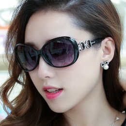 Wholesale Purple Steampunk - Women Sunglasses Famous Brand Designer Uv400 Eyewear Driving Steampunk Vintage Big Frame Coating Eyewear Gafas De Sol Femenino Oval Frame