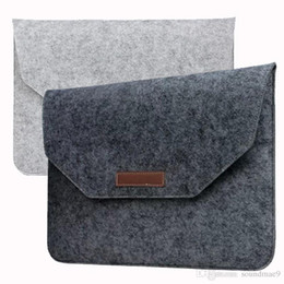 Wholesale Covers For Hp Laptops - Laptop Bag Macbook 11 12 13 15 inch Air Pro Retina Felt Bag Cover Sleeve Briefcase For Notebook Mac Pro Acer Asus Dell Lenovo HP opp bag