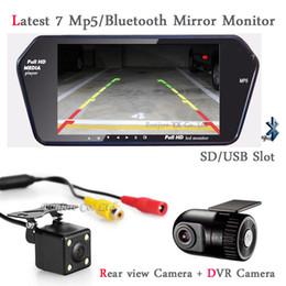 Wholesale 3 em Monitor Do Carro bluetooth MP5 com SD USB Slot Display DVR Carro Câmera Traço Escondido Cam Gravador DVR com câmera Retrovisor