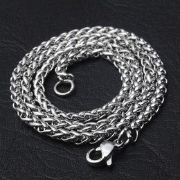 Wholesale 925 Silver Dragon Necklace - Dragon Chain 925 Sterling Silver Women Fine Jewelry 60cm Box Chain Snake Chain for Making Necklace