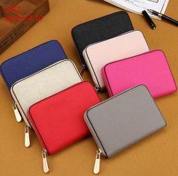 lindas carteras pequeñas para mujeres Rebajas Marca diseñador de moda mujer pu cartera corta bolso de embrague 7 colores pequeño lindo 00ap11