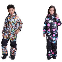 mädchen sportswear sets Rabatt -30 Junge oder Mädchen Kinder Overall Snow Suit Snowboard Kleidung winddicht wasserdicht atmungsaktiv Outdoor Sportswear Ski-Set
