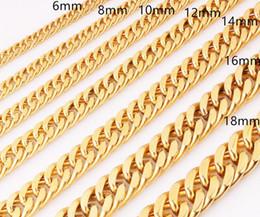 14K oro lleno de acero inoxidable encantador encintado miami cadena cubana collar para hombre 6-17 mm 24 ' desde fabricantes