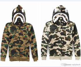Canada Hommes Design Sweatshirt OFF Camouflage Velours Pull BLANC Porter Hooded Casual Porter FOG HIP HOP Vêtements de plein air pas cher Vente Offre