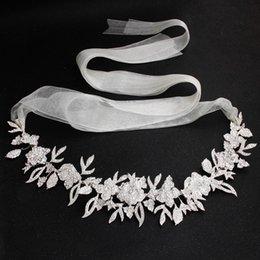 bijoux de mariée ceintures Promotion Mode femme homme ceinture Woodqiqi Ceinture de mariée Alliage floral strass taille chaîne Ceinture de mariage bijoux de mariée