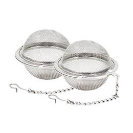 Filtro de té inoxidable online-Malla de acero inoxidable Bolas de té 5 cm Infusor de té Filtros Filtros Difusor para té Cocina Comedor Bar Herramientas WX9-378