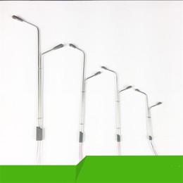 Feux de rue dirigés par modèle en Ligne-Double Tête Led Réverbères Modèle Mini Modèle Disposition Lampe Scape Lights Home Micro Paysage Mode Accessoires Livraison Gratuite 4 3fr Z