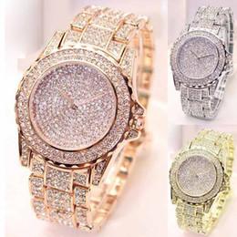 Horloges à la mode en Ligne-Montres femmes horloge de diamant montre à quartz analogique Vogue montres 2018 montres de luxe pour femmes horloge relojes hombre 2018