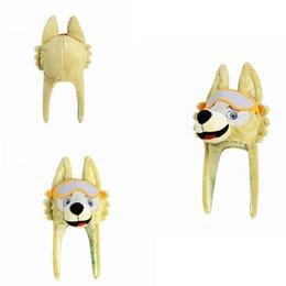 Wholesale christmas lights hat - 2018 Russia World Cup Mascot Zabivaka Wolf Hat Stuffed Plush Doll Caps FIFA World Cup Caps Souvenir Party Favor AAA284