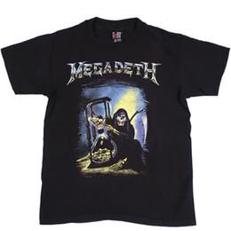 stilvolle männer t-shirts Rabatt Weinlese-Megadeth T-Shirt 1992 Slayer-Metalltod-Count-down zum Aussterben