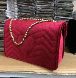 Wholesale red hot velvet - Hot Sale Fashion Vintage Handbags Women bags Designer Handbags Wallets for Women Leather Chain Bag Crossbody and Shoulder Bags