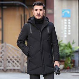 26175c3cdca8 luxury men winter jacket gray duck down parka casual goose feather men s  winter coat hood thick warm waterproof jackets
