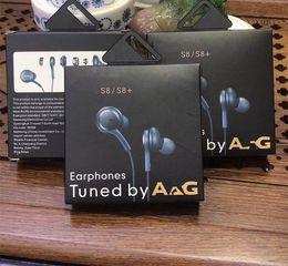 Volumen del auricular de control remoto online-la caja más nueva S8 Auriculares 3.5mm en la oreja Auriculares Auriculares Auriculares Auriculares Con control remoto de volumen de micrófono Para SAM S8 con paquete al por menor