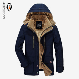 d9198bc5c9f67 Men Jacket Winter Brand Warm Thicken Coats High Quality Famous  Cotton-Padded Fashion Parkas Elegant Business Multi Pocket 4XL vintage army  parka for sale