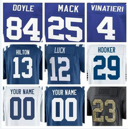 Homens faculdade futebol on-line-Venda quente Indianapolis Malik Hooker Colts jersey Andrew Luck Peyton Manning futebol rugby faculdade retro rugby camisas de futebol americano barato