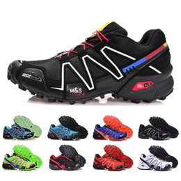 Wholesale Red Trails - Brand Hot sell Solomons Speedcross 3 CS Trail Running Shoes women Lightweight Sneakers Navy Solomon III Zapatos Waterproof Athletic Shoes 36