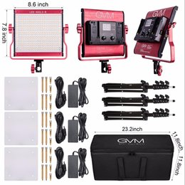 Argentina GVM 480 LED Kit de luz de fotografía regulable 2300K-6800K CRI97 LED de luz de video para estudio al aire libre Studio Shooting de retrato supplier interview light Suministro