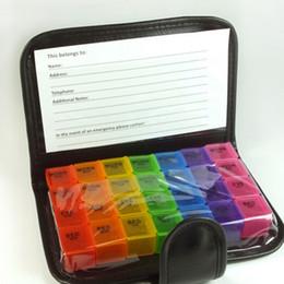 Cajas porta medicamentos online-2018 Diary Pill Box Portable 28 Plazas Weekly 7 Days Tablet Holder Medicine Storage Organizer Funda de contenedor