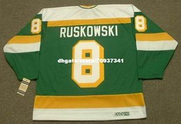 4581de9d3 Wholesale Mens TERRY RUSKOWSKI Minnesota North Stars 1987 CCM Vintage Cheap Retro  Hockey Jersey