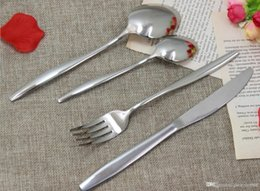 wholesales for cutlery Canada - elegant New Sliver Cutlery wholesale forks spoons knives stainless steel, flatware,stainless steel cutlery for wedding and hotel