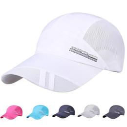 Hombres mujeres casuales de protección solar gorra de béisbol de adultos  sombrero de malla de secado rápido plegable sol sombrero al aire libre de  ... 1b58ec09eba
