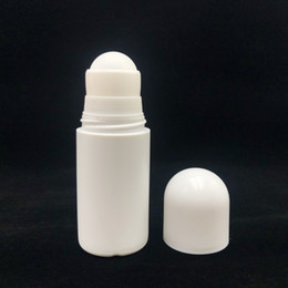 deodorant containers Promo Codes - 50ml Plastic Roll On Bottles HDPE White Empty Roller Bottle 50cc Rol-on Ball Bottle Deodorant Perfume Lotion Light Container