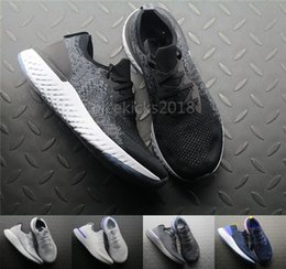 Wholesale Summer Sport Dress Women - 2018 Mens Running Shoes Epic React Fly Knit Trainers Women Sports Shoes Free Run Barefoot Athletic Outdoor Shoes Comfort Casual Dress Shoe