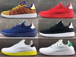 Wholesale Womens Green Tennis Shoes - New Pharrell Williams X Stan Smith Womens Mens Running Shoes Multicolor Tennis Hu Primeknit Trainers Sports Jogging Sneakers